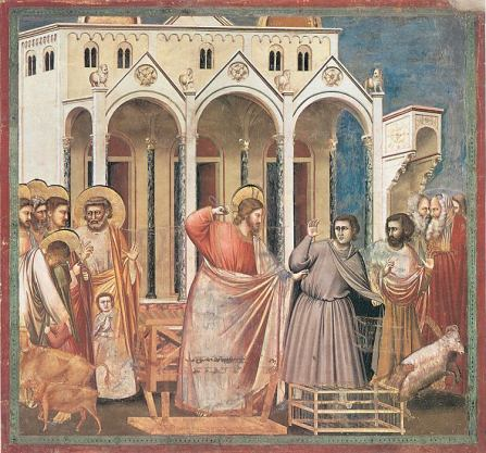 The Cleansing of the Temple by Giotto in the Scrovegni Chapel, Padua